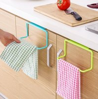 bathroom storage cabinet - Home Storage Hooks Rails Random Color Hanging Holder Rail Organizer Bathroom Kitchen Cabinet Cupboard Hanger Shelf
