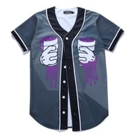 Wholesale New arrival European and American style men s D baseball clothes men fashion shirts ice cream printed shirt