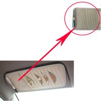 Wholesale Disks Car Auto Visor CD DVD Disk Card Case Holder Clipper Bag Hold Car Styling Interior Organizer Cover stowing tidying