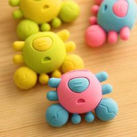 Wholesale Crab Eraser Rubber Eraser Cute Children Prize Gift Office School Supplies Papelaria