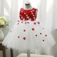 Wholesale Girls dress summer sleeveless Chiffon Dress Girls Toddler D Flower Tutu Layered Princess Party Kids Formal wedding Dress