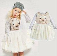 beaded cashmere sweater - 2016 New Girls Dress Baby Dress Autumn Dress Cartoon swan dress Long Sleeves Girl tutu dress sweater design dresses Kids lace tutu dress