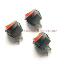 Wholesale Pin A V A V Red Round Button Rocker Switch KCD1 On Off Subminiature Rocker Switches