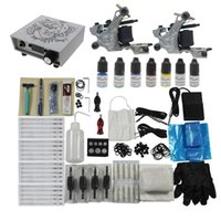 Wholesale USA Starter Complete Tattoo Kit Machine Gun Power Supply Needles Ink Redscorpion