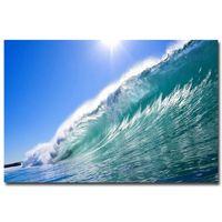 big custom stickers - Custom Art Posters hot sale Tropical Sea Big Ocean Wave Nature X75cm Living Room Poster Birthday Gift