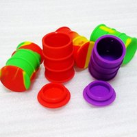Wholesale New Arrive Wax Container Silicone Box ml Non stick Silicone Container For Wax Silicone Jars Dab Wax Container With Drum Shape