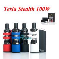 shadow boxes - Tesla Stealth W TC Starter Kit ORIGINAL Box Mod Super Mini Electronic Cigarette Teslacigs Stealth Kit With W TC Box Mod Shadow Tank