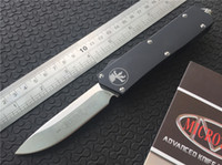 automatic fishing machine - Hunting Knife Microtech Scarab Executive D A S E Automatic Knife quot Satin CNC D2 Steel T6 Machined Aluminum Handle F616E
