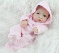 Unisex > 3 years old Vinyl NPK 10 Inches Mini Full Vinyl Buy Reborn Baby Dolls For Girls Lifelike Hobbies Real Looking Baby Dolls Toys For Girl Fashion