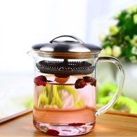 Wholesale Hot sale ml high borosilicate small glass teapot with infuser