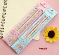 Wholesale pack Creative love series cute printed wooden pencil School pencils aa