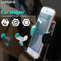 Wholesale USAMS Car Phone Holder for Iphone Sumsung Air Vent Mount Car Holder Degree Ratotable Soporte Movil Car Phone Stand