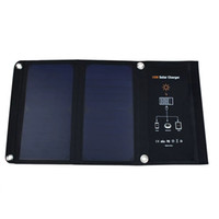 Wholesale 15W Dual Ports USB Solar Charger high efficiency SUNPOWER solar panels for iPhone Plus iPad Air mini Galaxy S7 S6 S6 Edge and More