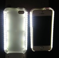 Wholesale LED Light Case fill in light selfie phone Case Illuminated For iphone7 iphone7 plus iphone S iphone7 SE s Samsung Galaxy S6 S7 Edge