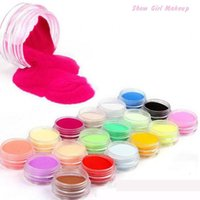 Wholesale Newest Fashion Colors Nail Art Tips Uv Gel Powder Dust Design D Decoration Manicure Color Acrylic Powder