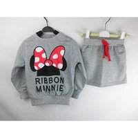 animal clothing stores - Lucky Store minnie kids clothes girls clothing sets baby girl cartoon t shirt skirt set