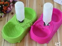 Wholesale LJJK386 NEW Automatic Water Dispenser Dog Cat Pet Water Feeder Dish Bowl Food Dish Bowl Supply Bottle Feeder