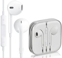 Wholesale Original Headphone iPhone6 s plus S Earphone Earbuds Best Quality Headset mm Stereo Handsfree with Remote Mic Earphones with box
