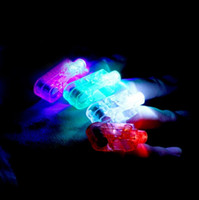 april finger - 3000pcs DHL LED Finger Light Glowing Dazzle Laser Emitting Finger Ring Beams Ring Torch Wedding Party Christmas Celebration