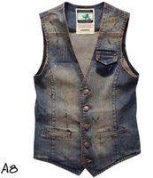 Wholesale New Men s denim vest waistcoat band fashion sleeveless jacket mens vest jean clothing