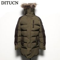 Wholesale Fall NEW HOT long thick Winter Jacket Men winter Cotton Coats fashion Mens Jacket Casual Thick Outwear For Men coat DITUCN