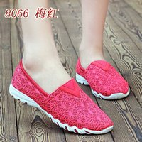 beijing red - In the summer of old Beijing shoes flat soft bottom shoes shoes anti skid breathable mesh shoes are comfortable shoes new lazy