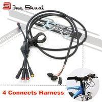 Wholesale Electric Bike cm cm Wire Heads Waterproof Cable Plug Coil Cord LED Lamp Brake Connector Copper Wiring Connects Harness