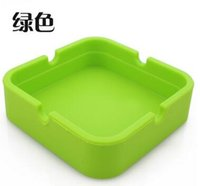 Wholesale Silicone Ashtray Nonstick Creative Home Bar Hotel Food Grade Square Colorful Silicone Ashtray Simple