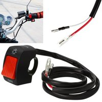 Wholesale Motorcycle Switches V DC Electrical System Bullet Connector Handlebar Switches ON OFF Button Connector Motorbike Accessories