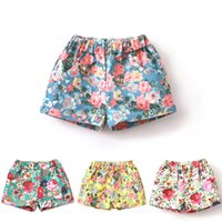 Wholesale Baby Girls Mini Shorts Floral Pants Cotton Shorts Fashion Summer Beach Shorts Kids Causal Pants Girls Wear Baby Clothes PAG02