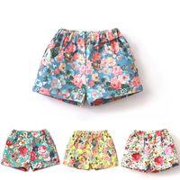 Pantalon court d'été Prix-Baby Girls Mini Shorts Pantalons Floral Shorts Coton Fashion Summer Beach Shorts Enfants Causal Pantalons Girls Wear Vêtements PAG02