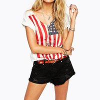 american flag shirts womens - American flag printed t shirts for womens fashion vintage t shirts for ladies v neck loose t shirts short sleeve summer plus size tops
