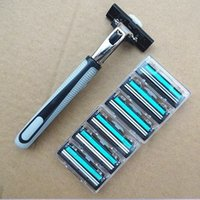 Wholesale Double Blade1 razor cartridge and Setrazors High Quality Razors Blade mache shaving Razor Blades Men s Face shaver blades For Men Sharp