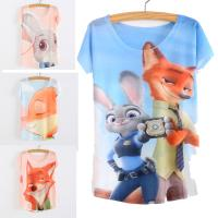 animal types shorts - PrettyBaby summer girls T shirt Hot sale Zootopia high quality printed types for choose short sleeves