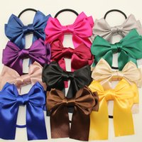 Wholesale 2016 Hot Fashion Ribbon Bow Hair Band Rope rubber band ring tie Scrunchie Ponytail Holder for Women