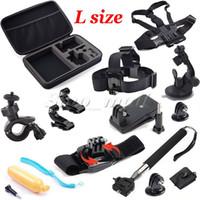 Wholesale L Size Box Bag Adjustable Chest Head Belt Strap Mount For Gopro SJCAM Extendable Handle Grip Sports Camera Accessories