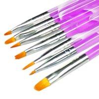 Wholesale 7Pcs Nail Art Dotting Tool Set New UV Gel Acrylic Nail Art Builder Brush Pen Painting