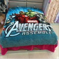 Wholesale Kids Superhman My Little Pony Minions Cinderella Sofia Pooh Frozen Mcqueen Car Stitch Mickey Snow White Doraemon Avengers Blankets A1256