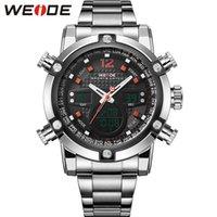 auto items - Erkek Kol Saati WEIDE Men Sports Military Watch Men Quartz Analog Digital Full Steel Wrist Watch Men Sports Relogios Sales Item
