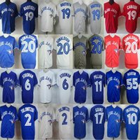 Wholesale 19 Jose Bautista Ryan Goins Troy Tulowitzki Josh Donaldson Marcus Stroman Kevin Pillar Toronto Blue Jays men sport jerseys shirt