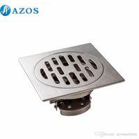 Wholesale AZOS Stainless Steel Toilet Floor Drain Strainer Grates Waste Bathroom Shower Part Ground Overflow Fitting PJDL006