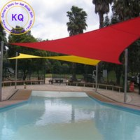 Wholesale x5x5 M Triangle Waterproof Sun Shade Sail Polyester fabric PU coated with free ropes for garden pool