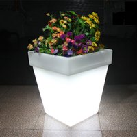 Wholesale LED Light Flowerpot Colors Changeable Luminous flash flower pot tray VASO Vase LIGHT indoor Outdoor