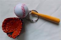 baseball key chains - Baseball Key chain Sport Key ring World Cup Birthday Graduation Gifts