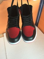 Wholesale DHL shipping AIR RETRO HIGH OG BRED BANNED BLACK RED WHITE Men Basketball Soes AIR LOW CONCORD