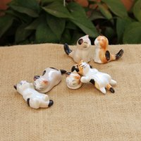 Wholesale Practial Cute Cat Porcelain Ceramic Chopsticks Rest Knife Rests Spoon Rest with Stylus Christmas Gift Cutest Cats