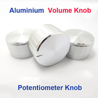 Wholesale New Argent Volume Potentiometer knobs aluminum alloy knob diameter mm mm laciness knob bass adjustment Knob