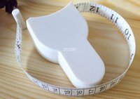 Wholesale 1000pcs High Quality m Fitness Accurate Body Fat Caliper Measuring Body Tape Ruler Measure Tape Measure White Body Fat Calip