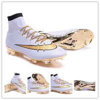 Wholesale 2016 New Mercurial Superfly CR7 anniversary Soccer Shoes Botas Futbol Hombre Outdoor Soccer Cleats Soccer Boots Laser Football Shoe