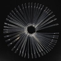 Wholesale Fashion Pro Set False Nail Art Tips Stick Practice Display Nails Polish Fan Display Nude Color Free Shippin